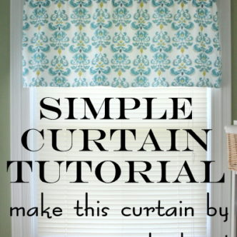 How to Make Curtains:  A super simple straight line sewing tutorial