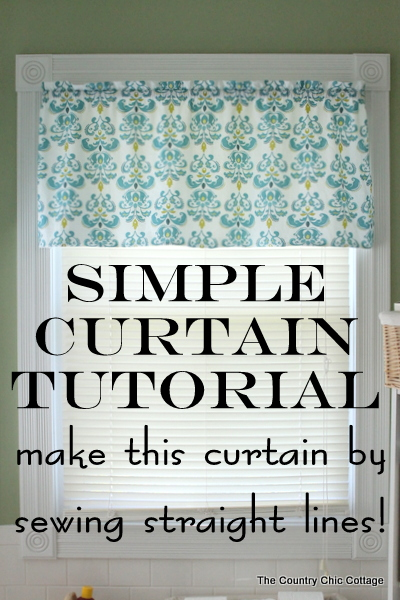 How to Make Curtains  A super simple straight line sewing tutorial   The  Country Chic Cottage. How to Make Curtains  A super simple straight line sewing tutorial