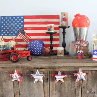 Home Decor:  My Summer Mantel