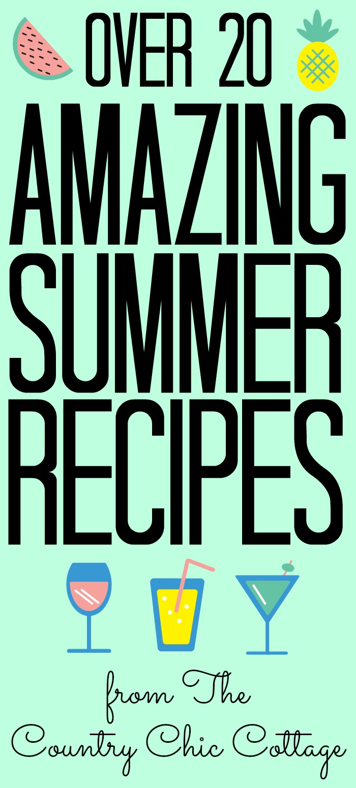 Over 20 amazing summer recipes for you! Great recipes for the summer that will really change up your meals! #summer #recipes