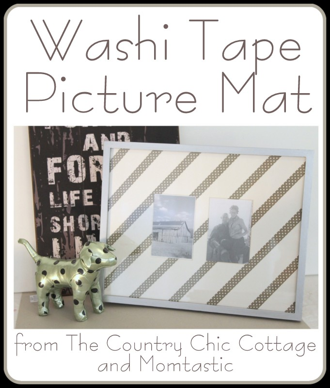 DIY Washi Tape Picture Frame Mat - The Country Chic Cottage