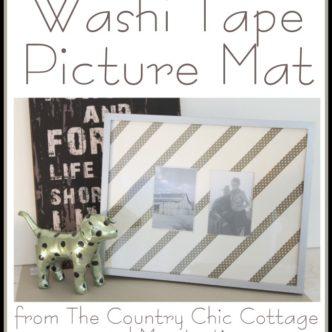 DIY Washi Tape Picture Frame Mat