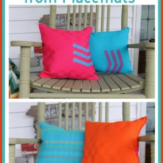 How to Make Reversible Pillows from Placemats