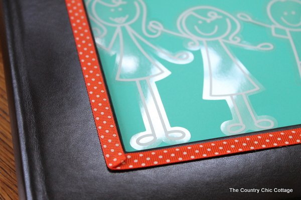 Add some decorative flair to your photo albums with some decals from Plaid and Me and My Peeps.