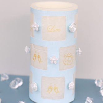 DIY Wedding Candle Wrap — a quick and easy tutorial!
