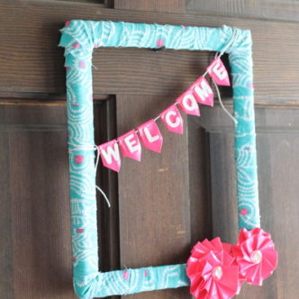 Duct Tape Flowers Wreath for Summer