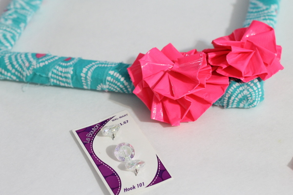 duct tape flowers wreath