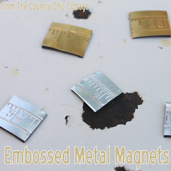 Make embossed metal with your Sizzix and embossing folders. Then turn that metal into magnets or wall art quickly and easily.