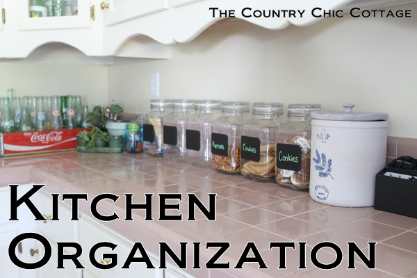 Get some kitchen organization ideas to keep your counters clean and clutter free.