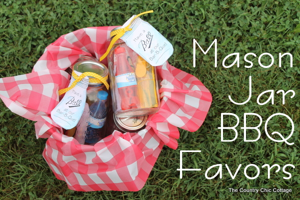 Mason Jar BBQ Favors Give Your Guests A Little Memento Of Party With