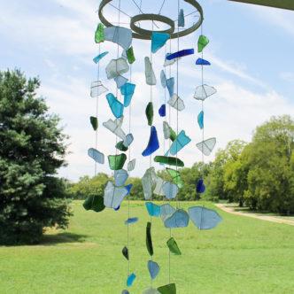 sea glass wind chimes craft