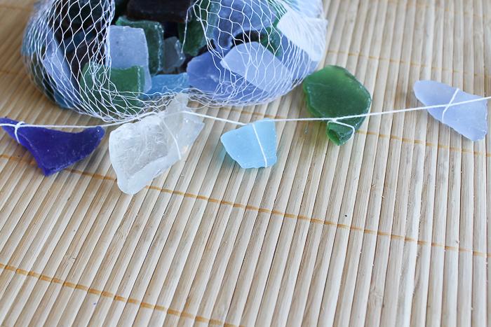 tie string around sea glass
