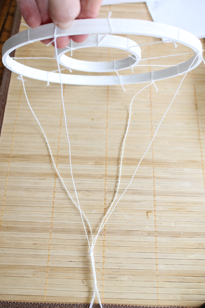 Making a hanger for sea glass wind chimes