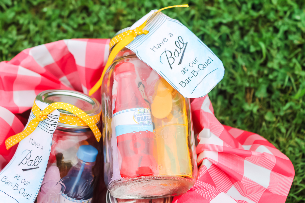 mason jar party favors