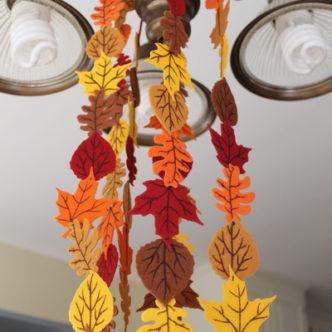 Fall Felt Leaf Garland