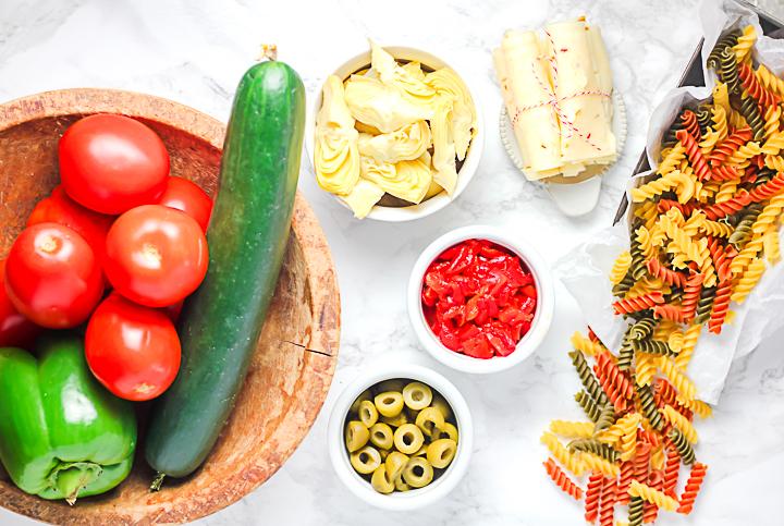 pasta salad ingredients