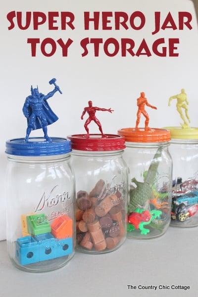 graphic for mason jar toy storage ideas