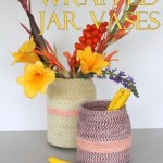 twine wrapped jar vases