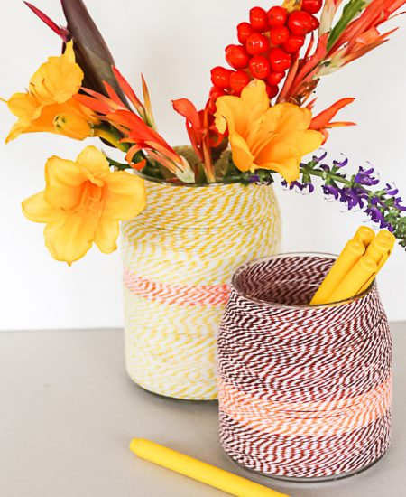 add twine to a vase
