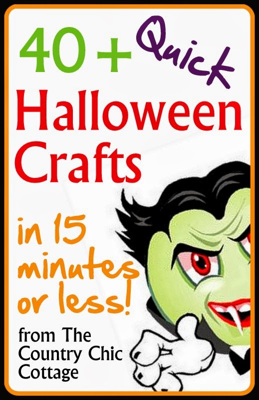 quick halloween crafts over 40 ideas under 15 minutes the country chic cottage - Halloween Printable Crafts For Kids 2