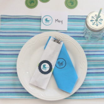 DIY Baby Shower Decorations — a virtual SURPRISE baby shower!
