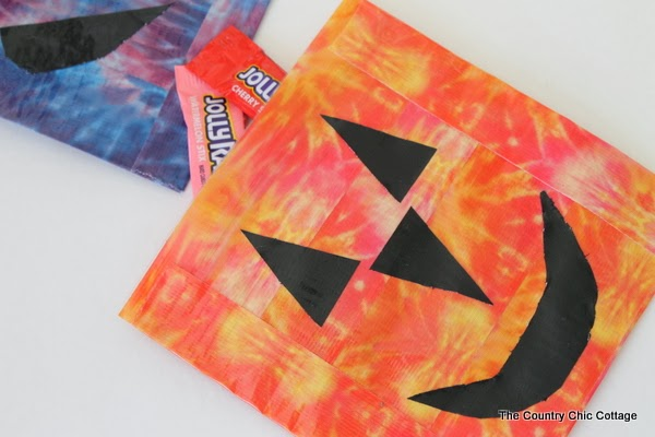 halloween duct tape treat bags
