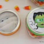 Halloween party favors in mason jars