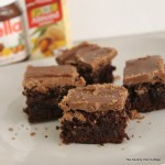 chocolate hazelnut iced brownies-001