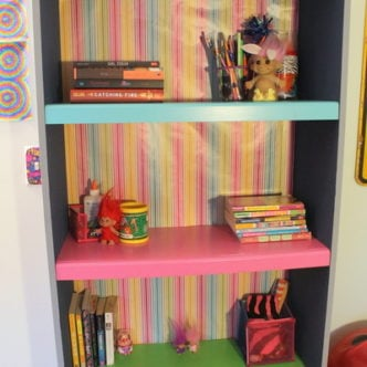 Color Block Book Shelf with FrogTape