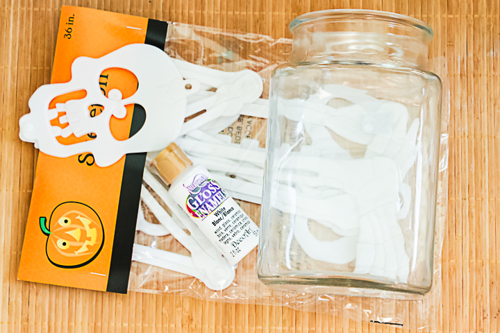 supplies to make a halloween vase