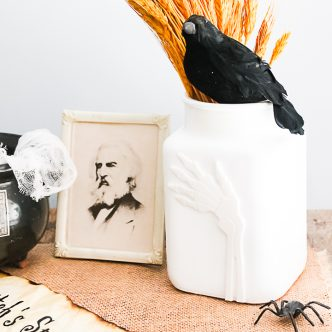 diy halloween vase