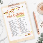 Fall Cleaning Checklist Printable for Free
