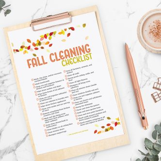 autumn cleaning checklist