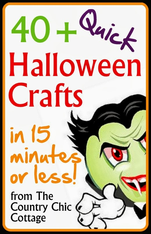 Quick Halloween Crafts Over 40 Ideas Under 15 Minutes