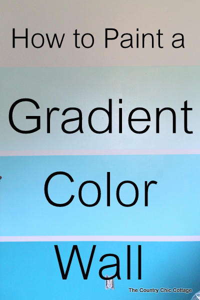 How to paint a gradient wall -- pro tips to get that trendy ombre color to give a room new life!