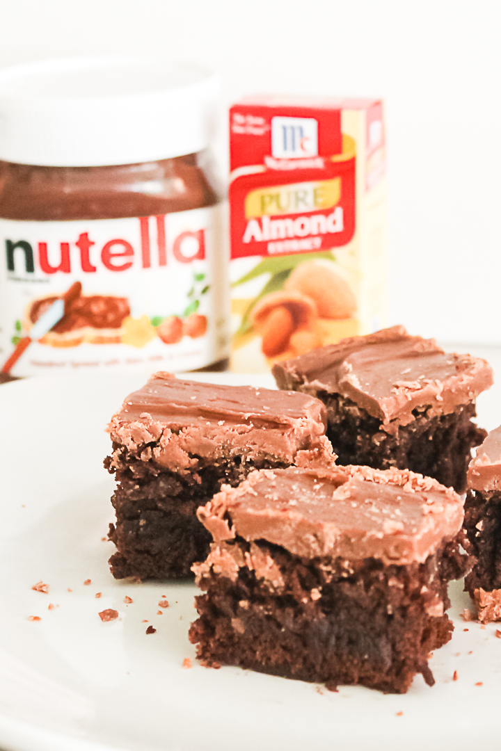 nutella icing on brownies