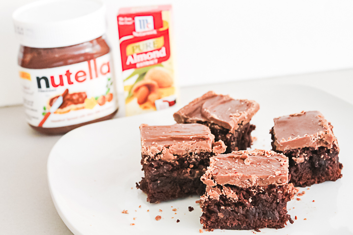 nutella frosting on brownies