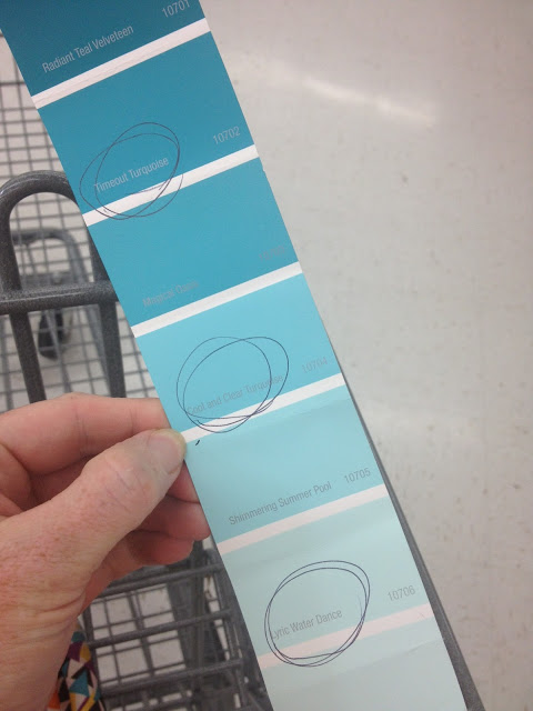 Use paint chip cards to pick the perfect colors to make a gradient wall