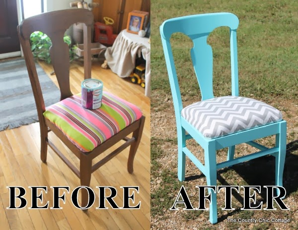 A DIY covered and painted chair using Glidden paints. Come learn more about resources for painting.