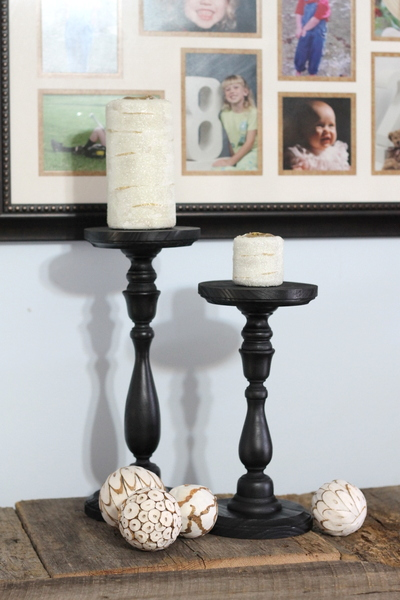 Pottery Barn Knock Off Candle Holders And Candles The
