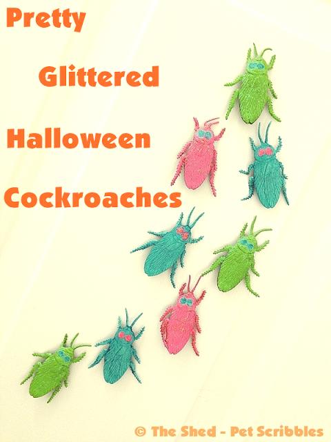 glittered bugs