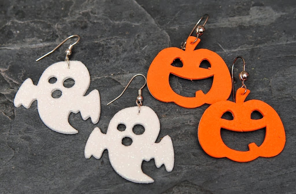 halloween earrings craft
