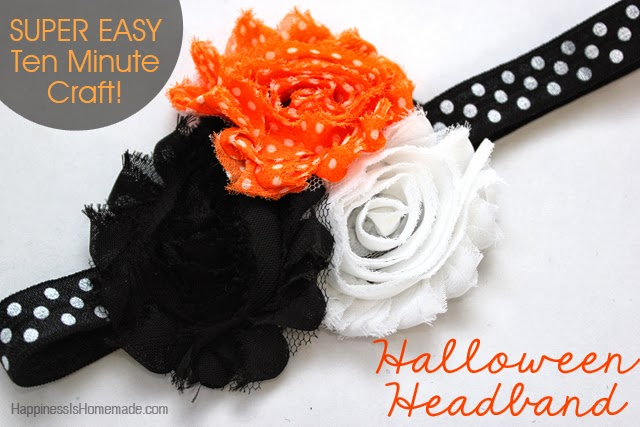 halloween flower headband