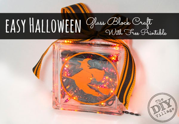 halloween glass block craft