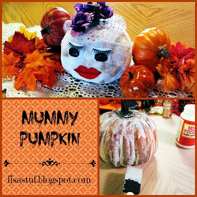 mummy pumpkin craft idea
