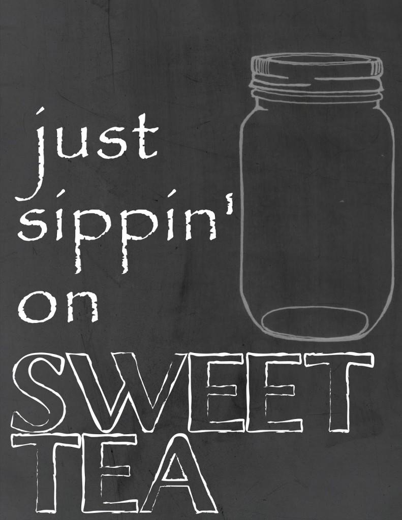 Free Mason Jar Chalkboard Art Just Sippin On Sweet Tea