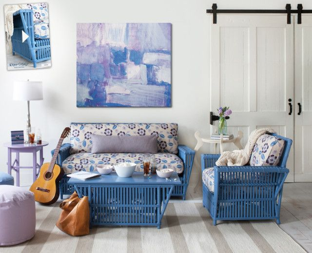 Using Wicker Furniture Indoors - The Country Chic Cottage