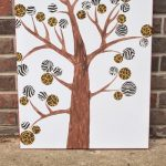 DIY modern tree art with duck tape-004