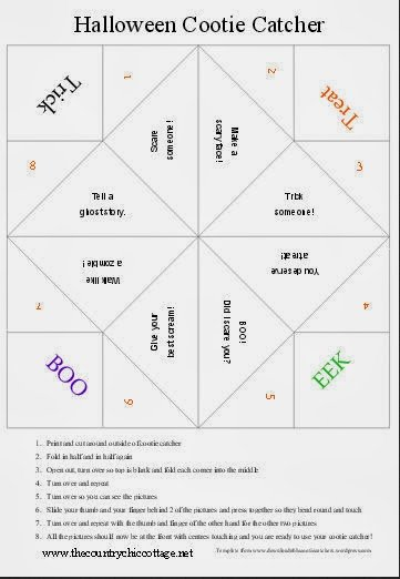 photograph about Cootie Catcher Printable known as Halloween Cootie Catcher Totally free Printable for Little ones - The