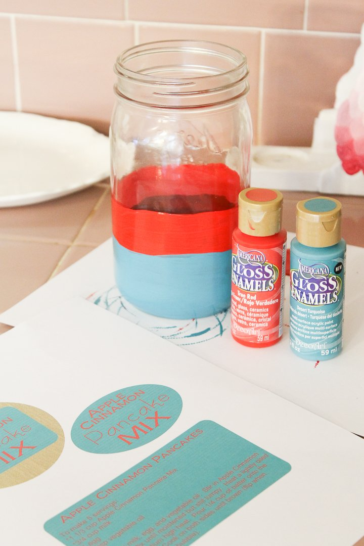 painting a glass mason jar supplies